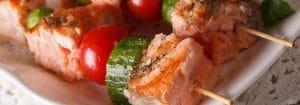 Asian Salmon Kebabs