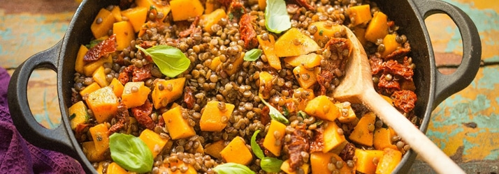 Lentils and Butternut Squash